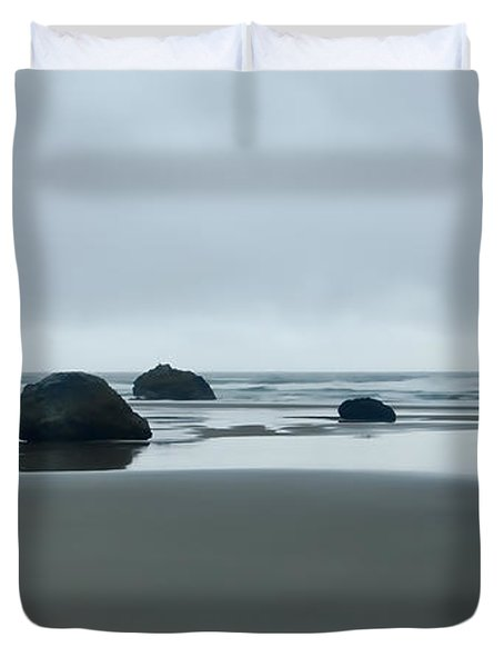 Tres Rocas Duvet Cover by Don Schwartz