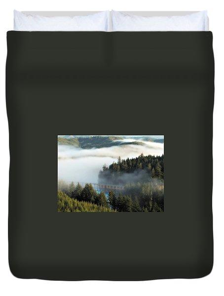 Trestle In Fog Duvet Cover