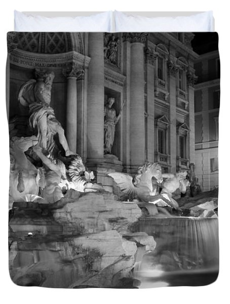 Trevi Fountain Night 2 Duvet Cover