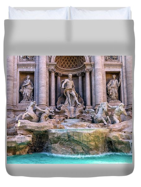 Trevi Fountain, Roma, Italy Duvet Cover