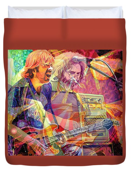 Trey Channeling Cosmic Jerry Duvet Cover