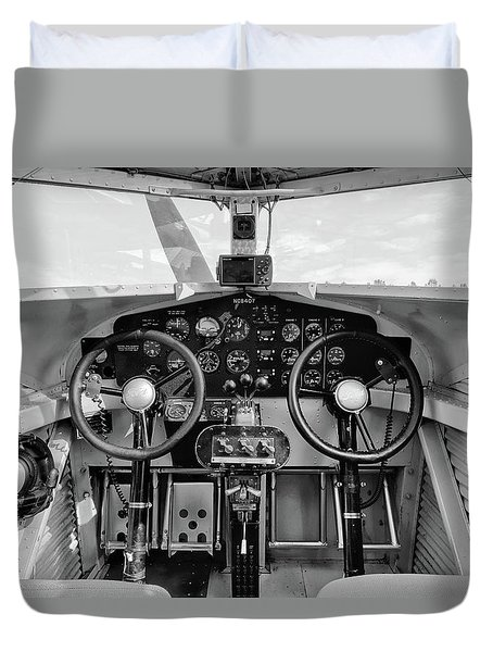Tri-motor Cockpit - 2017 Christopher Buff, Www.aviationbuff.com Duvet Cover