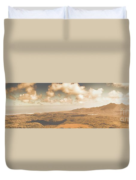 Trial Harbour Landscape Panorama Duvet Cover
