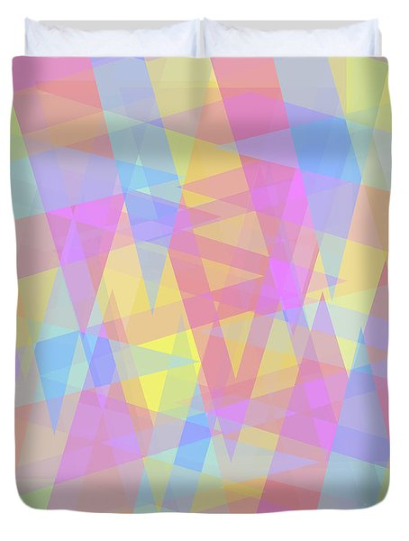 Triangle Jumble 2 Duvet Cover