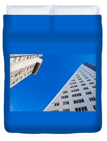 Duvet Cover featuring the photograph Triangle Modern Building by John Williams