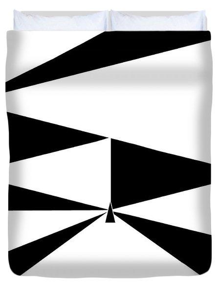Triangles 2 Duvet Cover by Eloise Schneider