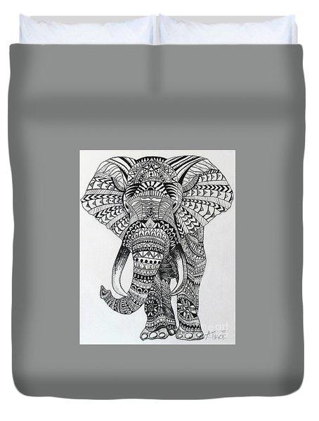 Tribal Elephant Duvet Cover