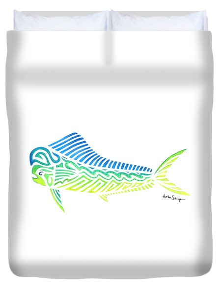 Tribal Mahi Mahi Duvet Cover