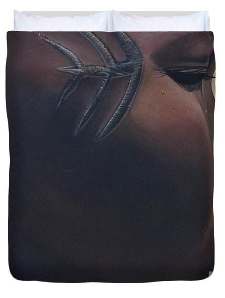 Tribal Mark Duvet Cover by Kaaria Mucherera