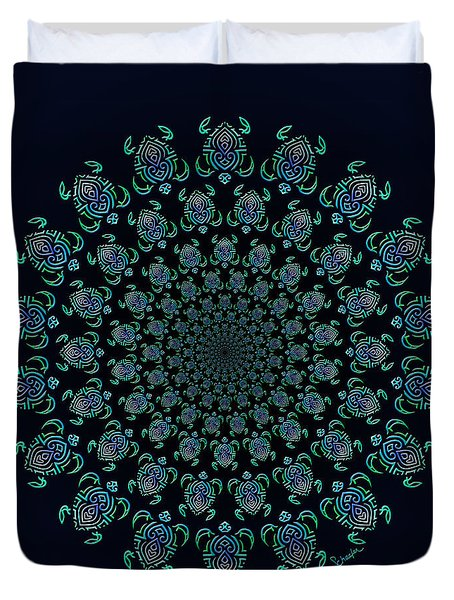 Tribal Turtle Tunnel Duvet Cover