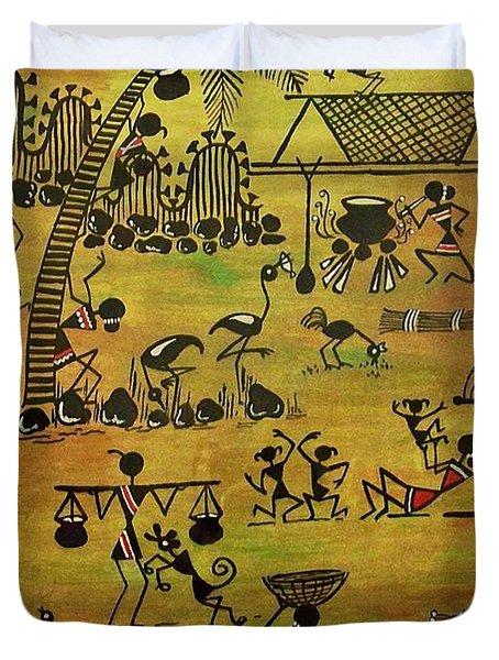 Tribals I Duvet Cover