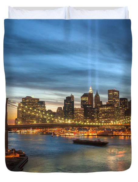Tribute In Light I Duvet Cover by Clarence Holmes
