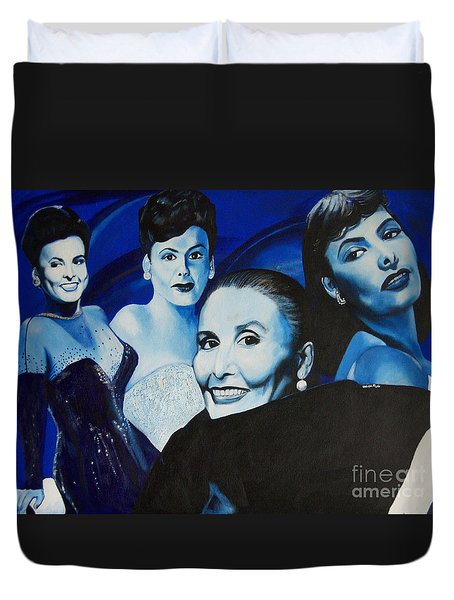 Tribute To Lena Horne Duvet Cover