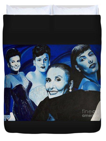 Tribute To Lena Horne Duvet Cover