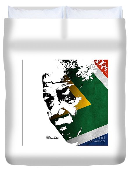 tribute to Nelson Mandela Duvet Cover by Rudi Prott