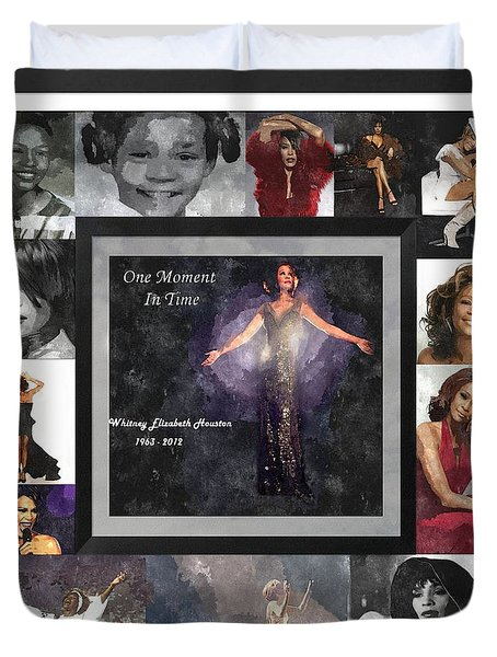 Tribute Whitney Houston One Moment In Time Duvet Cover