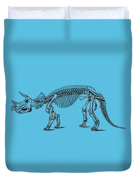 Triceratops Dinosaur Tee Duvet Cover