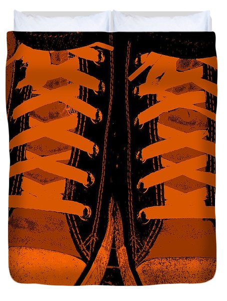 Trick Or Treat Feet Duvet Cover by Ed Smith