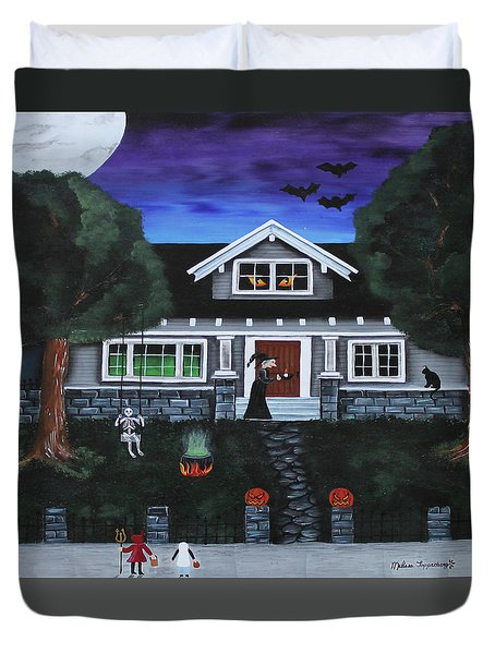Trick-or-treat Duvet Cover