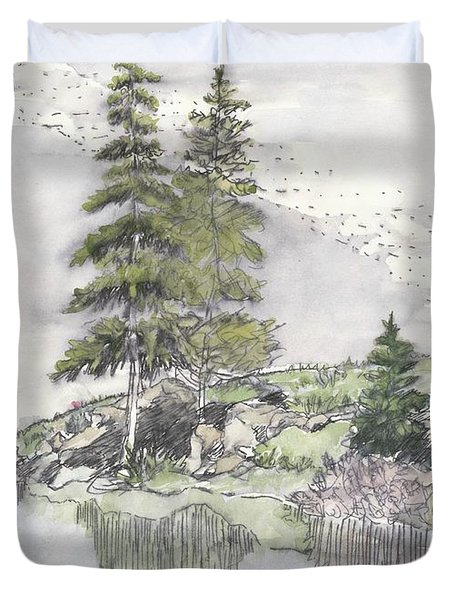 Trickle Park Colorado Duvet Cover