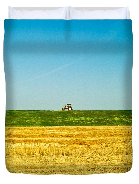 Tricolor With Tractor Duvet Cover