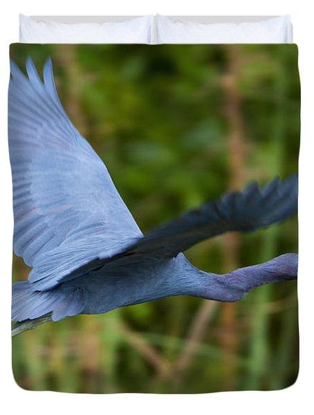 Tricolored Heron Flight Duvet Cover