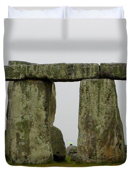 Trilithons Duvet Cover by Priscilla Richardson