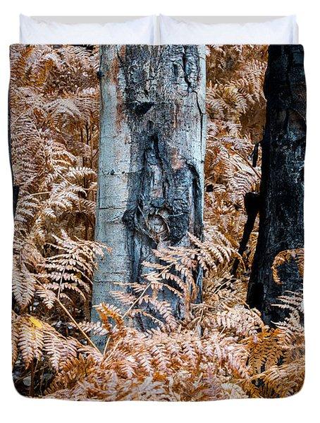 Duvet Cover featuring the photograph Trilogy by Dustin  LeFevre