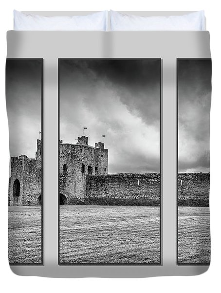 Trim Castle Triptych  Duvet Cover