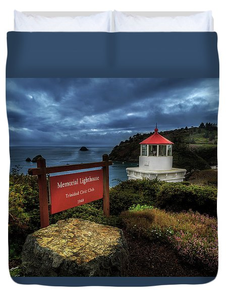 Duvet Cover featuring the photograph Trinidad Memorial Lighthouse by James Eddy