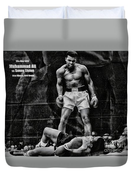 Trinity Boxing Gym Ali Vs Liston  Duvet Cover