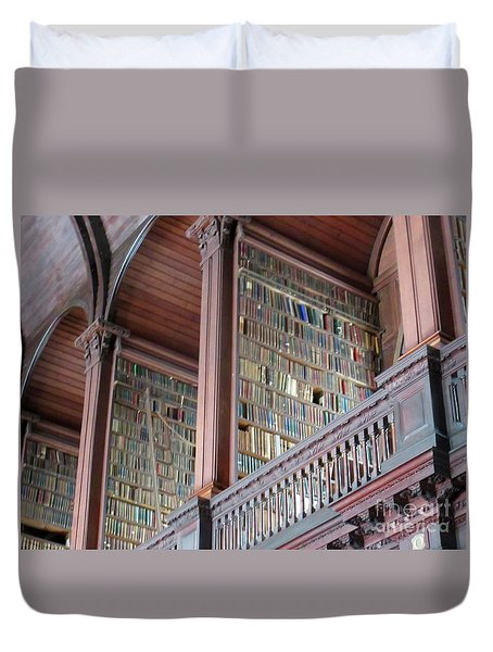 Trinity College Library Duvet Cover by Crystal Rosene