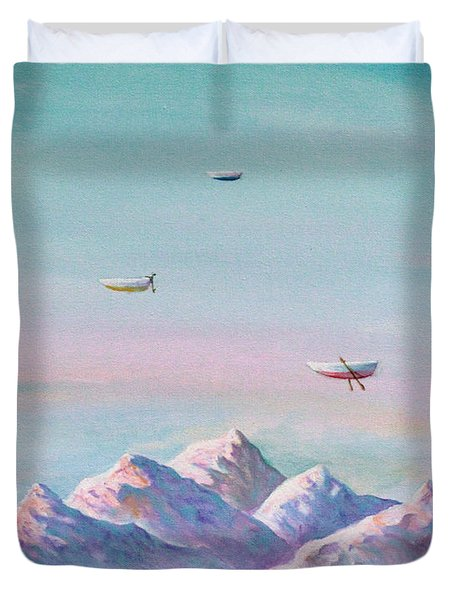 Duvet Cover featuring the painting Trinity by James Andrews