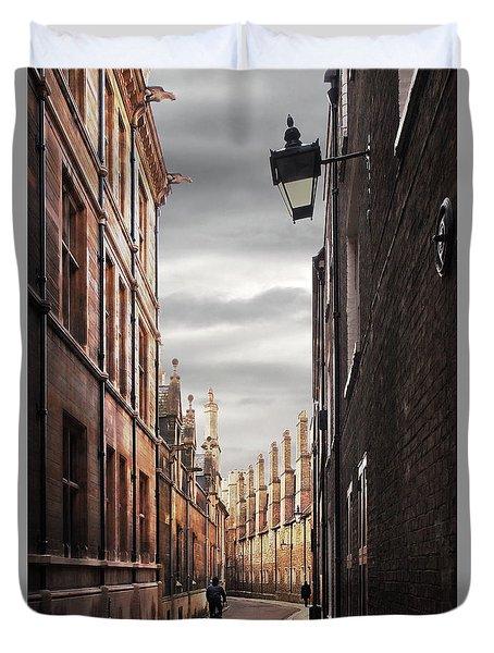 Duvet Cover featuring the photograph Trinity Lane Cambridge by Gill Billington