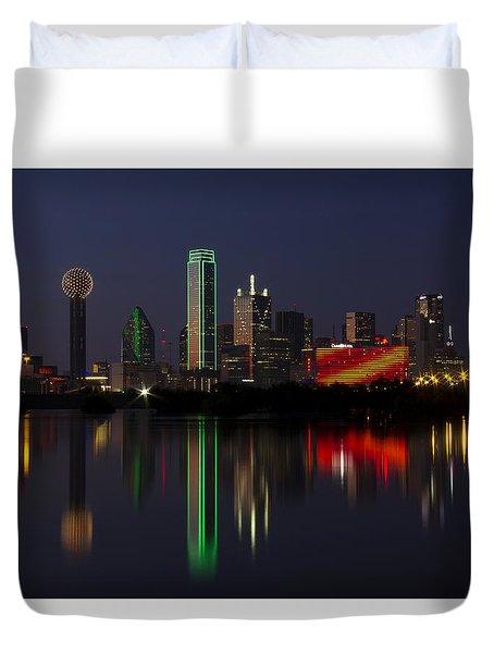 Trinity River Dallas Duvet Cover
