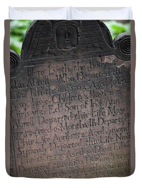 Trinity Tombstone Duvet Cover