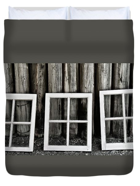 Duvet Cover featuring the photograph Trio by Brad Allen Fine Art