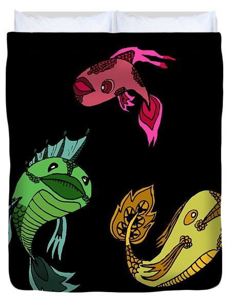 Trio Fish Duvet Cover