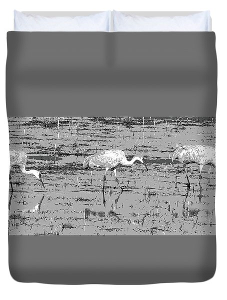 Trio Of Cranes Duvet Cover