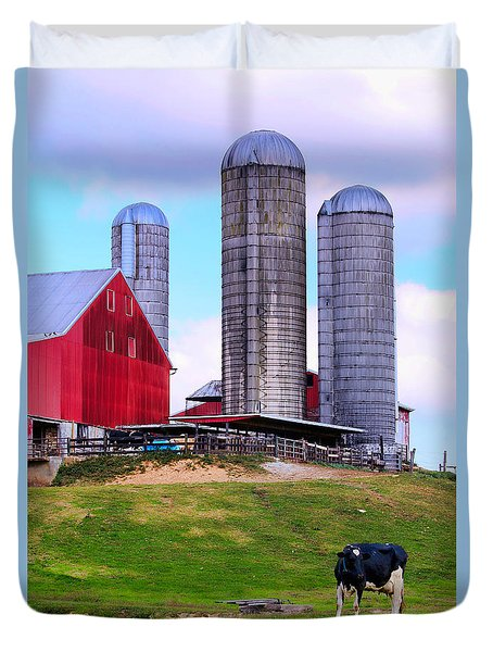 Trio Of Silos Duvet Cover by Polly Peacock