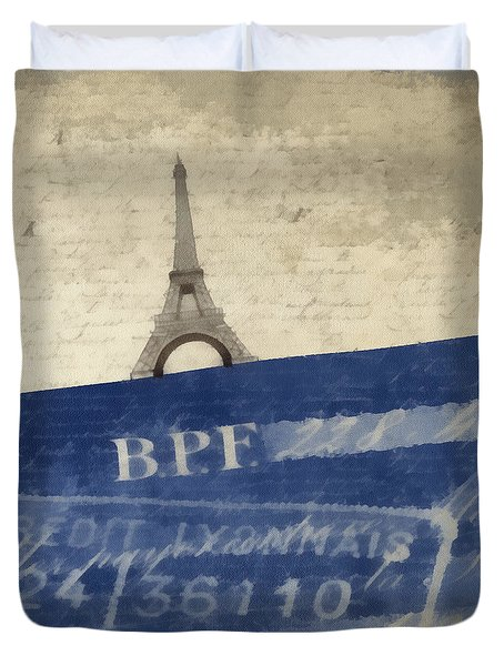 Trip To Paris Square Pillow Size Duvet Cover by Edward Fielding