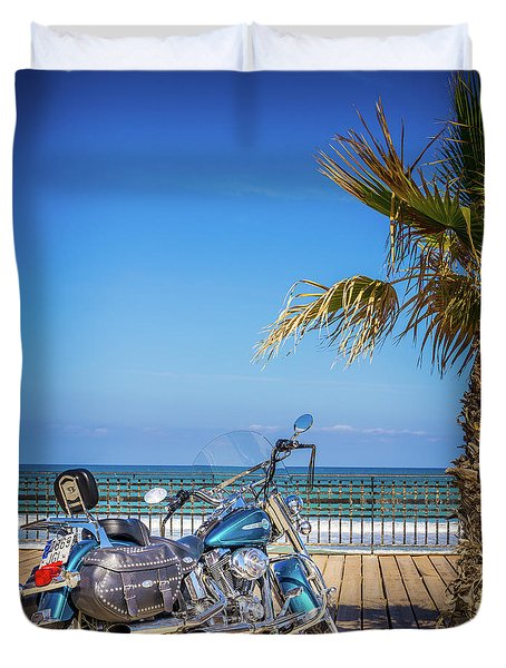 Duvet Cover featuring the photograph Trip To The Sea. by Gary Gillette
