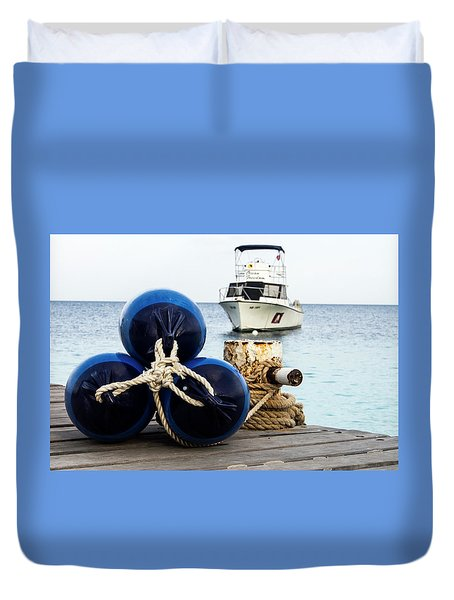 Duvet Cover featuring the photograph Triple Bumpers by Jean Noren