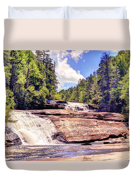Triple Falls - Dupont Forest Duvet Cover