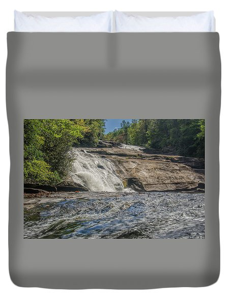 Triple Falls Second Tier Duvet Cover by Steven Richardson
