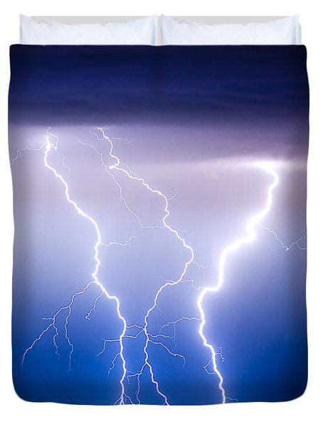 Triple Lightning Duvet Cover by James BO  Insogna