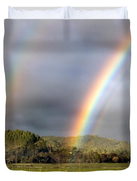 Duvet Cover featuring the photograph Triple Promise by Nicholas Blackwell