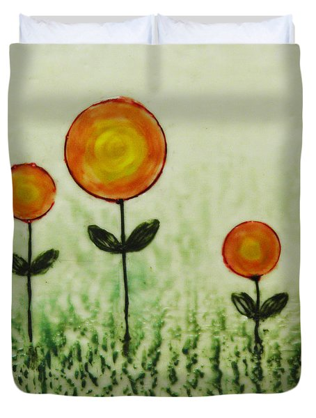 Triplets Duvet Cover by Terry Honstead