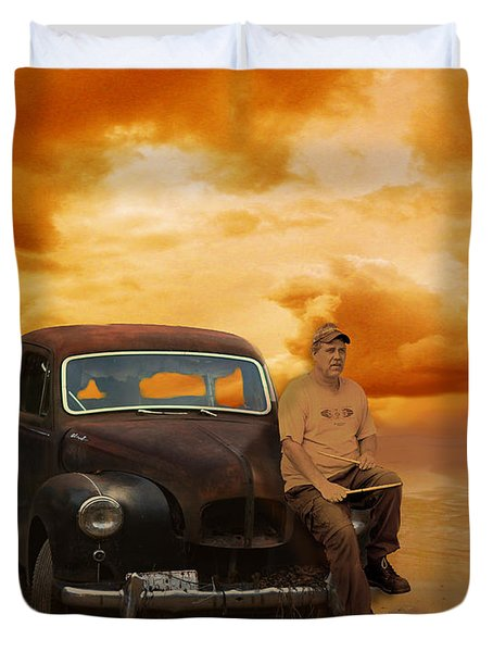 Trippin' With My '48 Austin A40 Duvet Cover