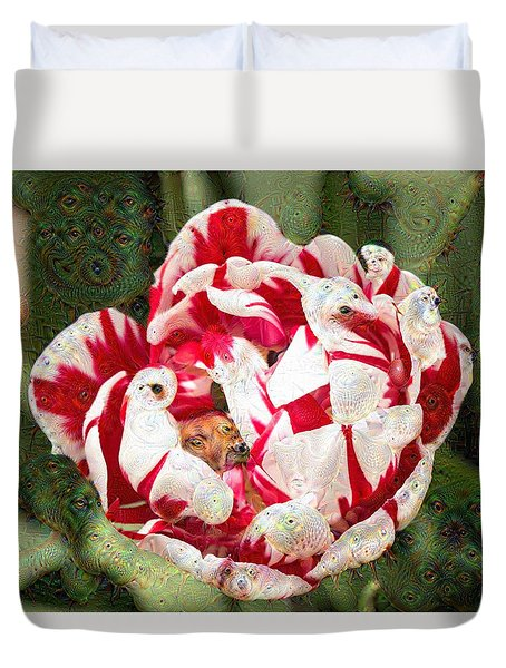 Duvet Cover featuring the photograph Trippy Tulip by Cathy Donohoue